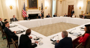 Coronavirus Pandemic – President Trump taking Hydroxychloroquine. Remarks by President Trump in a Roundtable with Restaurant Executives and Industry Leaders. Governors Briefing on COVID-19 Response & Ensuring the Well-Being of All Americans