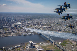 Thunderbirds and Blue Angels over NJ and Philadelphia PA