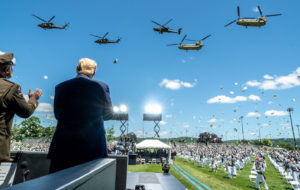 President Trump West Point Graduation Flyover