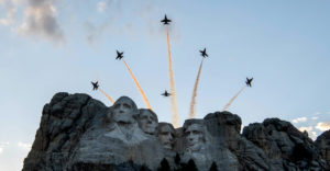 Salute to America – Blue Angels Fly Over Mt Rushmore